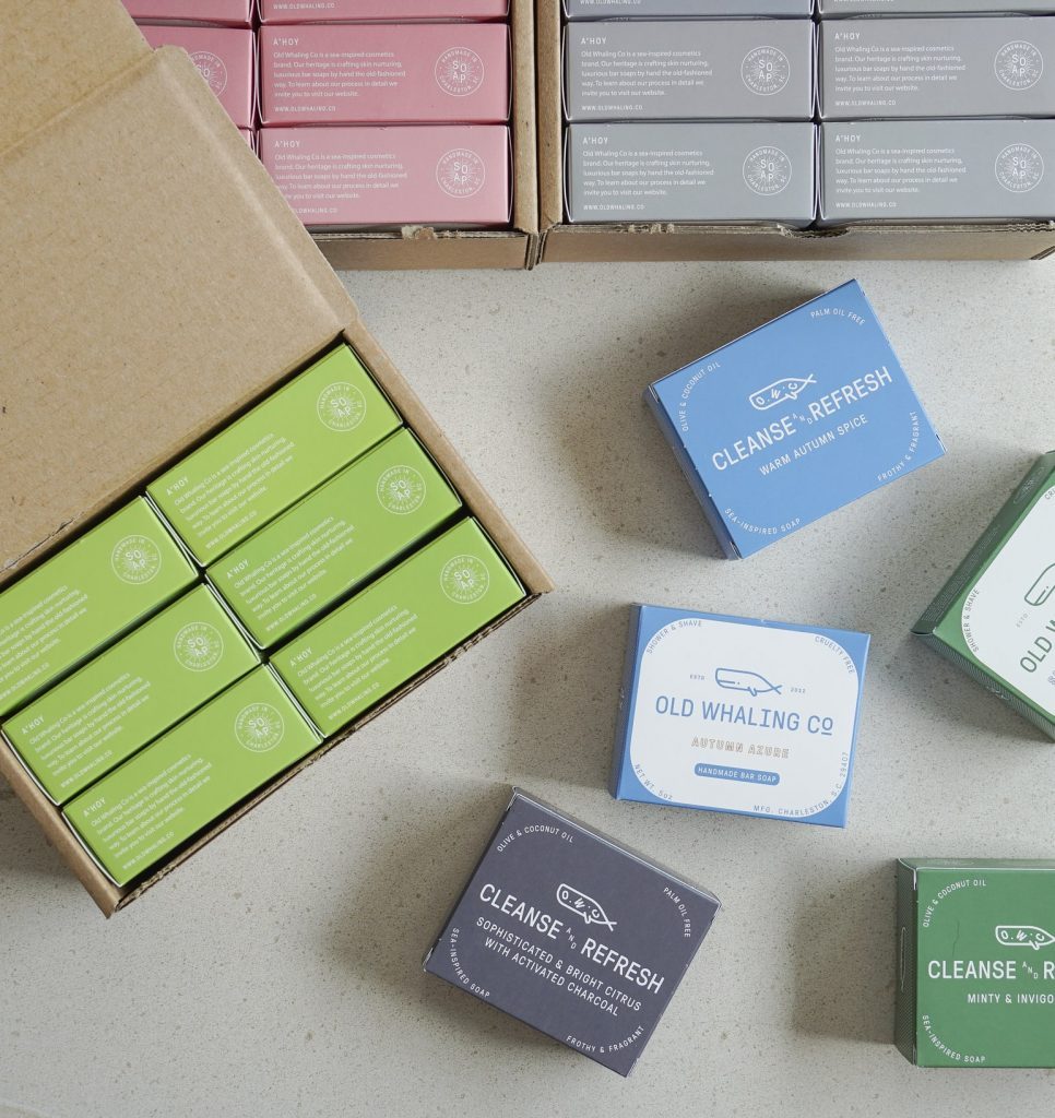 Selection of bar soaps